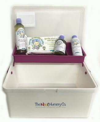 Baby Bathtime Pre Filled Baby Box Pink Organiser With Earth Friendly Baby