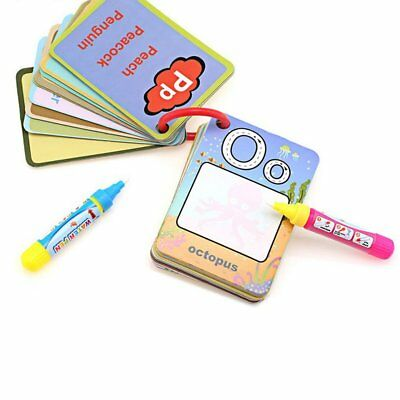 Water Drawing Card Letter Number Card Cognitive Painting Board Educational SQ