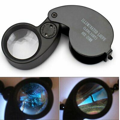 Jewellers Jewellery 40x-25mm Loupe Magnifying Glass Magnifier Glass Eye Lens