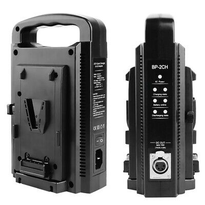 BP-2CH Dual Slot Charger Dual Channel Quick Charger For V-Lock V-mount Battery
