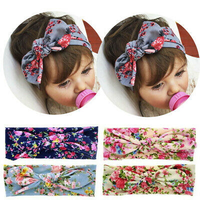 Stylish Baby Girls Kids Bunny Rabbit Bow Knot Turban Headband Hair Band Headwrap