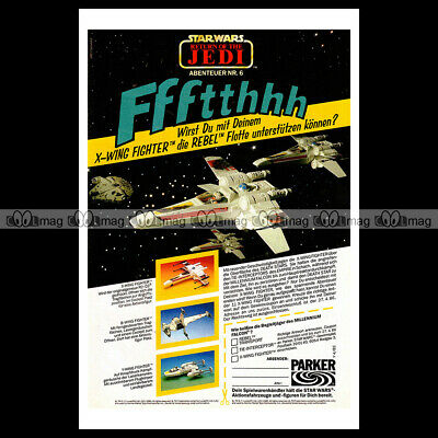 #phpb.001713 Photo STAR WARS X-WING FIGHTER PARKER 1985 Advert Reprint
