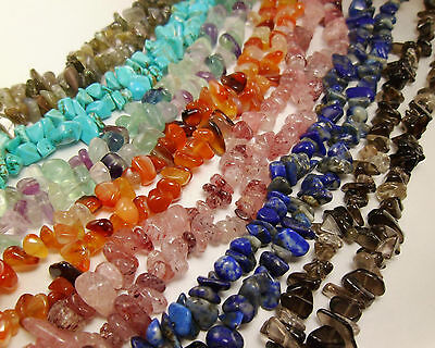 3 Strands Natural Semi-precious Stones Chip Beads Chakra Quartz Necklace Strands