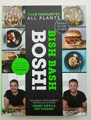 Bish Bash Bosh, Henry Firth & Ian Theasby, Hardcover Cookbook, SIGNED BY AUTHORS
