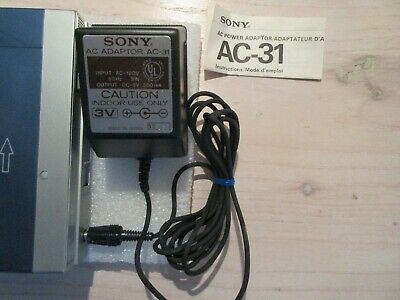 Sony Cassette Player TPS-L2 AC Adaptor - Guardians Galaxy - Rare - MINT
