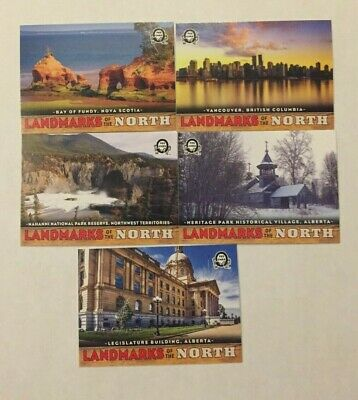 2018-19 Opc Canadian Tire Coast To Coast Landmarks Of The North Lot Of 5