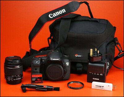 Canon EOS 7D DSLR Camera + 18-55mm Zoom Lens kit with Battery, & Charger