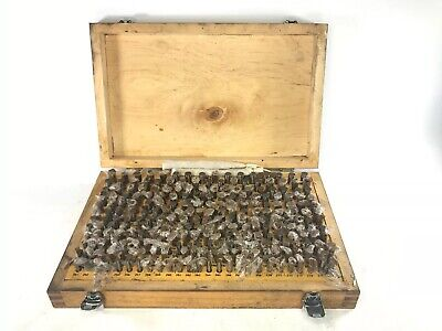 Steel Pin Gage Gauge Set Blocks Model M-2 251/500 Minus & Wooden Case 312 pins