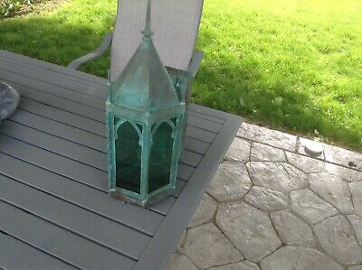 antique Copper Gothic Style Outdoor Light
