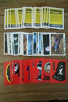 Topps Batman Cards & Stickers From 1989 - VGC! Pick & Choose The Cards You Need