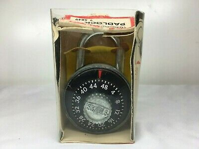 Vintage SEARS COMBINATION LOCK MINT IN PACKAGE Pad Lock Combo Padlock 9 5849