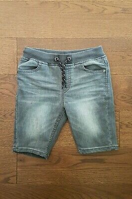 NEXT Boys Charcoal Grey Faded Distressed Stretch Denim Jean Shorts Size 7 Years