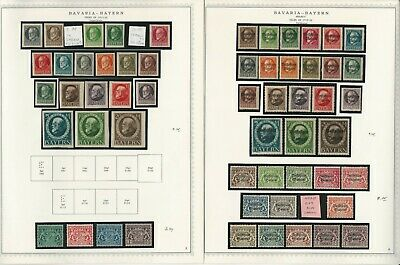 Germany Stamp Collection 21 Minkus Specialty Pages, Bavaria & States, JFZ