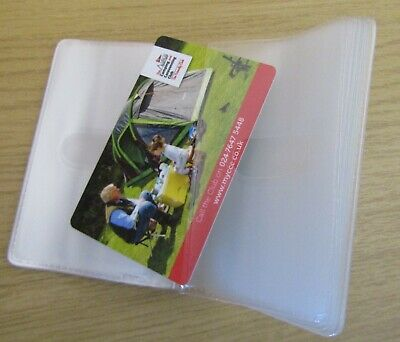 New Replacement Credit Card Holder Plastic Sleeves Inserts Portrait style