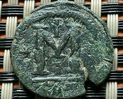 "Anastasius I 491-518 Ad Ae Reduced Follis Large ""M"" Constantinople Mint"
