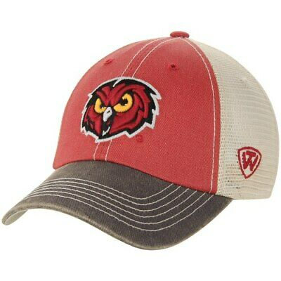 buy popular 16625 1621a Temple Owls Top of the World Offroad Trucker Hat - Red Tan