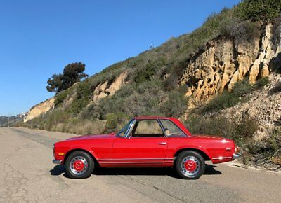 """1969 Mercedes-Benz SL-Class 280SL Pagoda - """"Signal Red"""" - Type W113 Recent Restoration ~ Factory A/C ~ 4-speed Manual Trans ~ #'s Matching ~ 2.8L I6"""