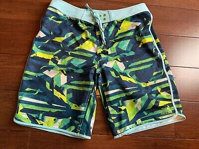 42cedcb4d3 THE NORTH FACE Men's BOARD SHORTS Swim Trunks, Size 34, Blue Yellow Green  Print