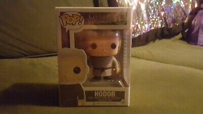 Funko Pop! HBO Game of Thrones HODOR #15 Vinyl VAULTED Protective POP case incl.