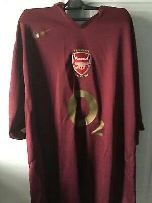 b8f6f87665e used Arsenal Home Football Shirt Adult size XXL HENRY #14 2005/2006 Highbury