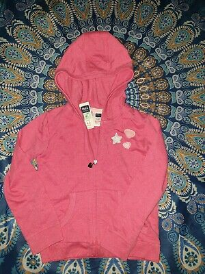 M&CO Kids Girls Pink Love hearts Jacket/Top Age 4-5 Years