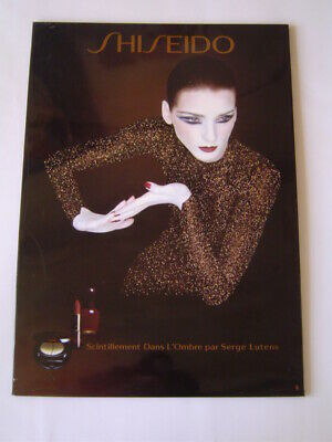 Affiche Magasin : Shiseido - Maquillage Scintillement Ombre / Serge Lutens