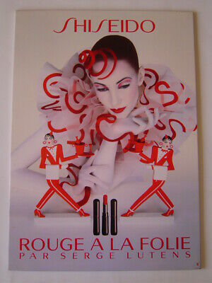 Affiche Magasin : Shiseido - Maquillage Rouge Folie / Serge Lutens