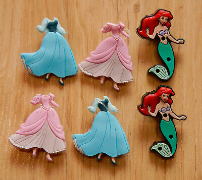 Genuine CROC  Jibbitz™ shoe charms - The Little Mermaid x 2 + changable dresses