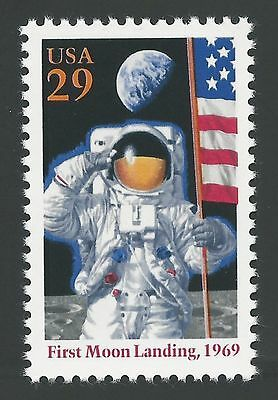 Apollo 11 25th 50th Anniversary First Man on Moon Armstrong US Space Stamp MINT!