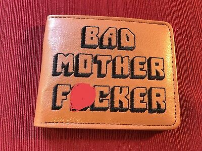Pulp Fiction Real  Embroidered Brown Bad Mother F**Ker Wallet