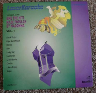 Rare Laserdisc Sing The Hits Made Popular By Madonna Vol 1 Pioneer Laserkaraoke