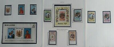 Lot of British Commonwealth 1981 Royal Wedding Issue MNH-