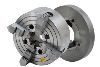 "Out Of Stock 90 Days Shars 8"" 4 Jaw Independent Lathe Chuck Tir Certificate + D1"