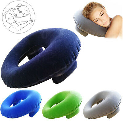 Portable Air Travel Inflatable Pillow Cushion Comfortable Neck Pillow for Nap