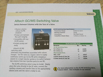 Alltech GCMS Switching Valve for 0.25 mm id (part n°12325)