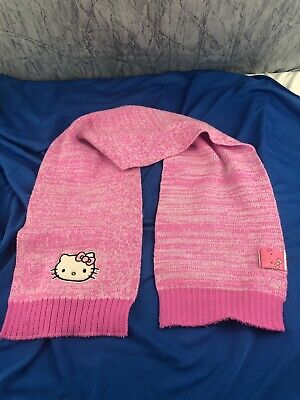 9fae43181 Hello Kitty Scarf 3.5 Ft Long Embroided Pink By Sanrio Winter Scarf  Collectible
