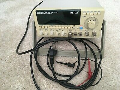 METEX MXG-980 2MHz Sweep Function Generator W/ Frequency Counter Tested Working