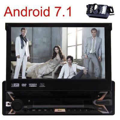 7'' HD Single 1Din Car Android 7.1 Stereo Radio DVD Player GPS BT FM Unit+Camera