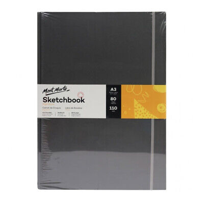 Mont Marte Signature Sketch Book - Hardbound A3 110gsm 80 Sheet