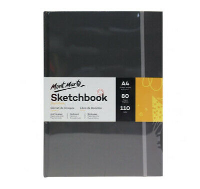 Mont Marte Signature Sketch Book - Hardbound A4 110gsm 80 Sheet