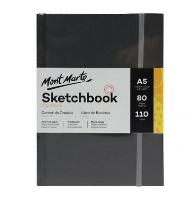 Mont Marte Signature Sketch Book - Hardbound A5 110gsm 80 Sheet