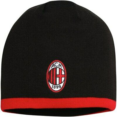 f7f2aff0 AC MILAN BEANIE REVERSIBLE SOCCER Official licensed Warm Cap ski Hat ...