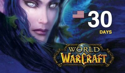 World of Warcraft - 30 Days Game Time  - WoW BfA / Classic - US/ AMERICAS /Ocean