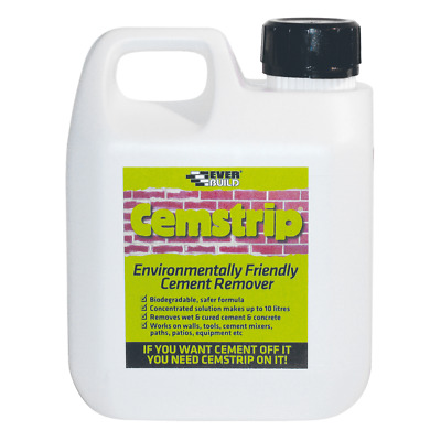 Everbuild Cemstrip Cement Stain Mortar Recmover Eco Friendly 1 litre & 5 Litre