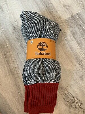 (K20) Timberland Socks Cushioned Mens Size 9-13 NWT Lot Of Two Pair