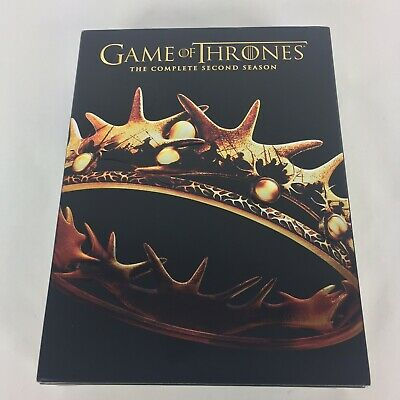 Game Of Thrones The Complete Second Season, 5 Disc DVD Set 2013 Free Shipping