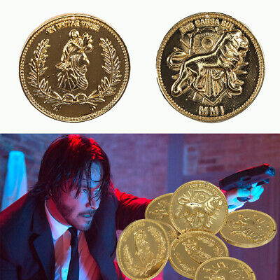 JohnWick Continental Hotel Gold Coin Replica Accurate High Quality Prop Gift 5X