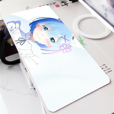 Re:Zero Rem Anime Girl Mouse Pad Mat Gaming Playmat Keyboard Desk Game Play Pad