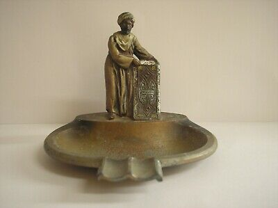 Austrian Bergman Metal Ashtray Arab Carpet Seller