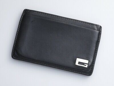 cb61d63f118b H6336M Authentic GUCCI G-Logo Genuine Leather Business & Credit Card Case